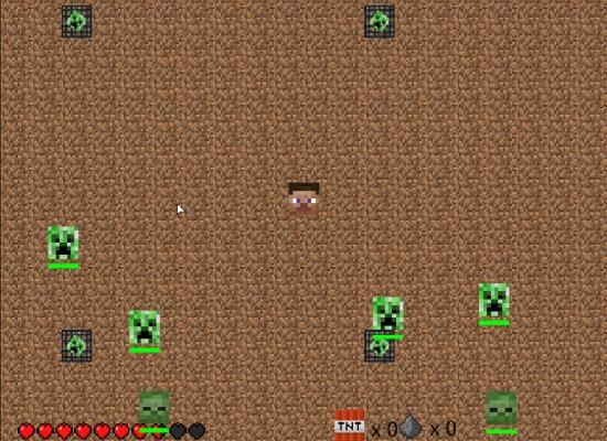 022-Minecraft-Avoider-Minecraft-Man-And-Enemies