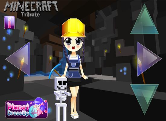 Minecraft Diamond Jackpot Dress Up - Minecraft Girl