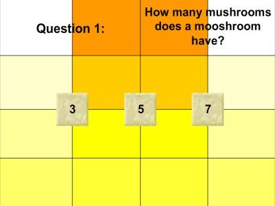 The Minecraft Quiz 1 - First Question - Minecraft Games