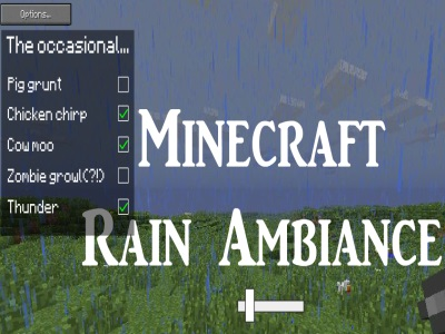 Minecraft Rain Ambiance Ver 1.1 - Options - Minecraft Games