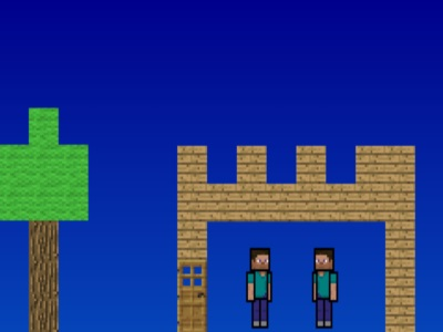 Minecraft Scene Creator 2 - 2 Minecraft Men - Minecraft Games